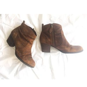 Franco Sarto Brown Leather Boots size 7